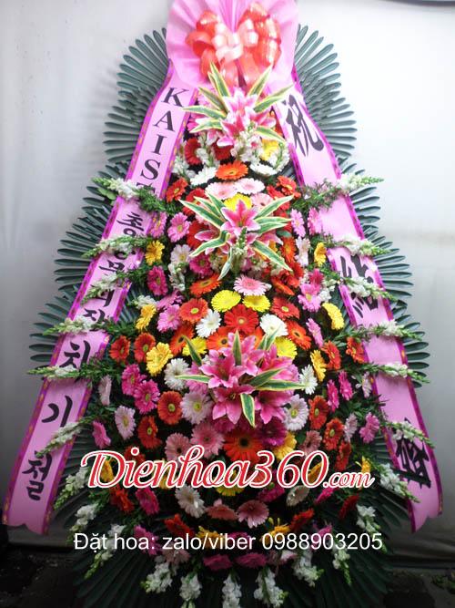 mẫu hoa chúc mừng hàn quốc rẻ đẹp