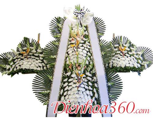 Vòng hoa tang lễ Hàn Quốc đẹp