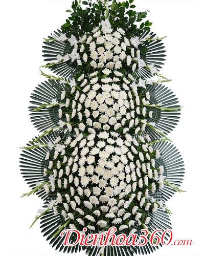 vòng hoa tang lễ phong cách Hàn Quốc