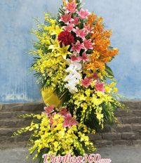 Nên đặt kệ hoa chúc mừng 2 tầng hay đặt lãng hoa 3 tầng?