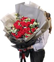 Mẫu hoa tặng sinh nhật đẹp hoa hồng