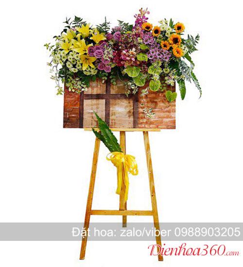 Bảng hoa tươi giá vẽ