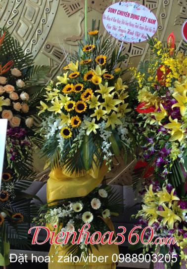 hoa tươi chúc mừng kỷ niệm thành lập công ty