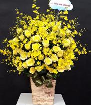 Hoa chúc mừng sinh nhật sếp màu vàng