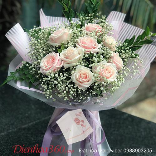 Hoa yêu thương bó hoa chúc mừng