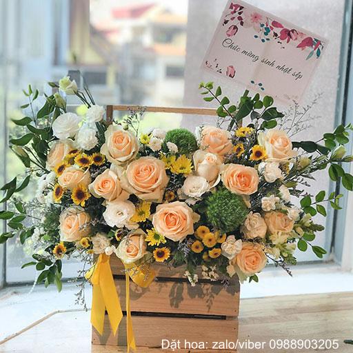 Mẫu hoa sinh nhật nam