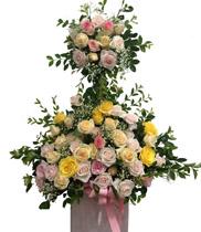 Hoa sinh nhật đẹp độc đáo | giỏ hoa 2 tầng