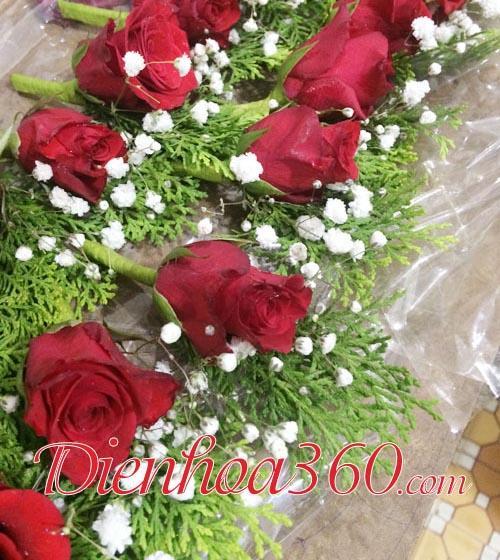 hoa tươi cài áo đẹp