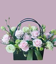 Giỏ hoa tặng sinh nhật giỏ hoa xách tay