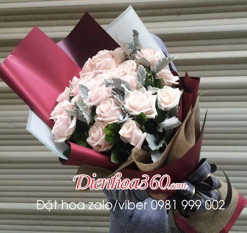 Bó hoa chúc mừng hoa hồng