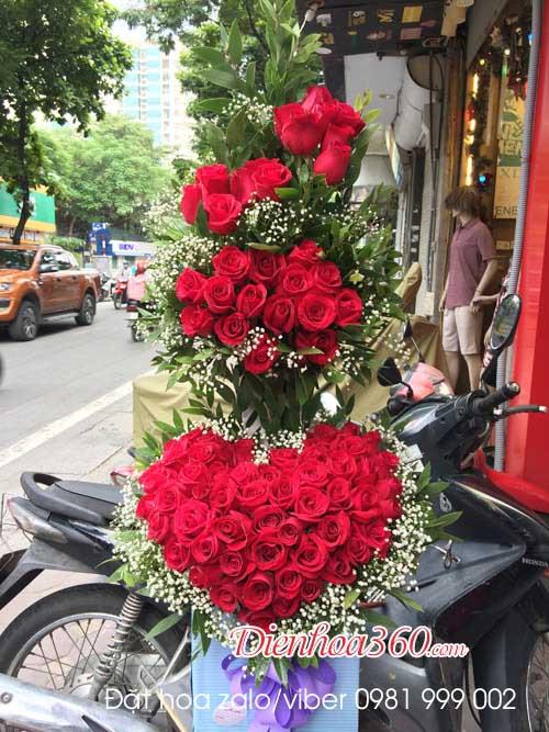 giỏ hoa hồng chúc mừng
