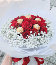 Socola Ferrero Rocher hoa tặng Valentine hoa ăn được