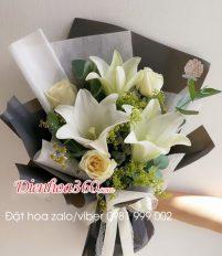 Tổng hợp mẫu hoa tươi tặng người thân hoa loa kèn