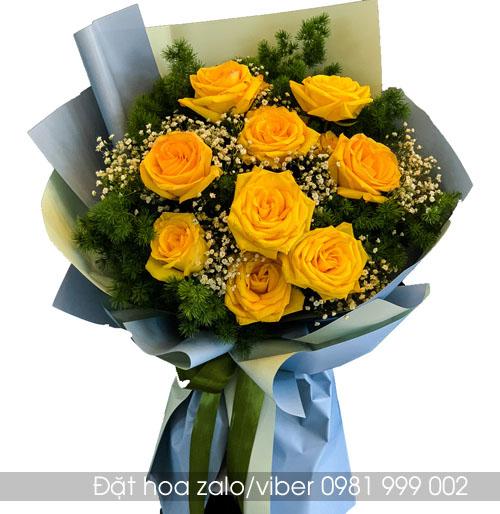 Bó hoa tặng sinh nhật hoa hồng vàng