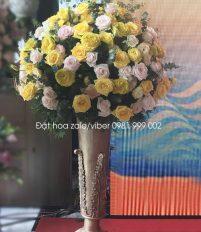Hoa chúc mừng lễ ra mắt ngân hàng kookmin