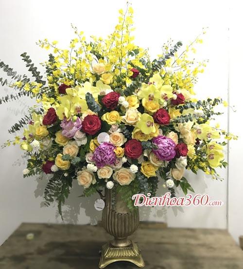 Bình hoa sinh nhật nam, bình hoa đẹp, ảnh hoa sinh nhật