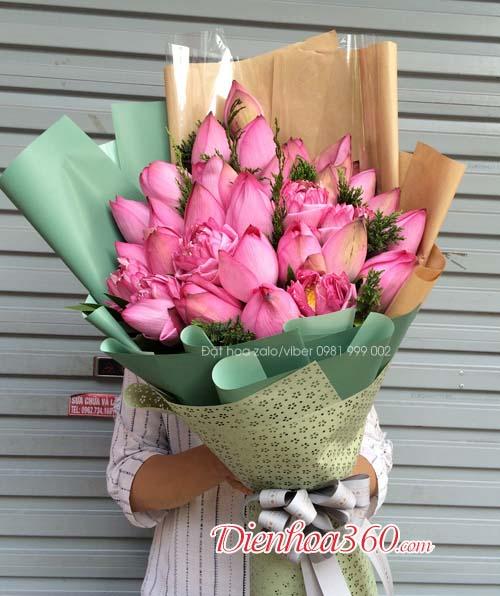Bó hoa sen, hoa sen tặng sinh nhật