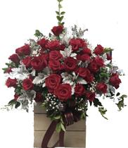 Lãng hoa chúc mừng sinh nhật – giỏ hoa hồng đỏ