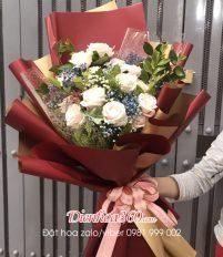 Hoa sinh nhật, cách bó hoa hồng đơn giản