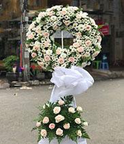 Vòng hoa chia buồn hoa hồng