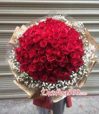 99 Bó hoa hồng đẹp ngày lễ Valentine và 8/3 và ngày 20/10