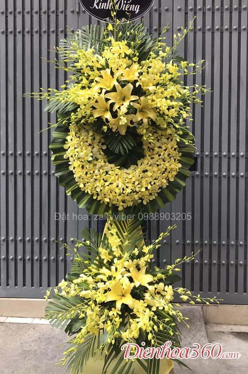 Hoa viếng đám tang màu vàng 125 phùng hưng