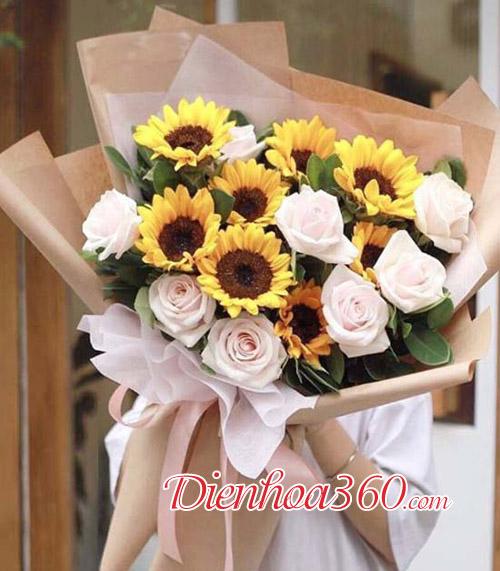 Hoa hướng dương chúc mừng
