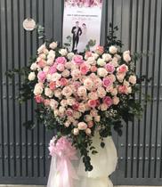 Lãng hoa chúc mừng đám cưới hoa hồng